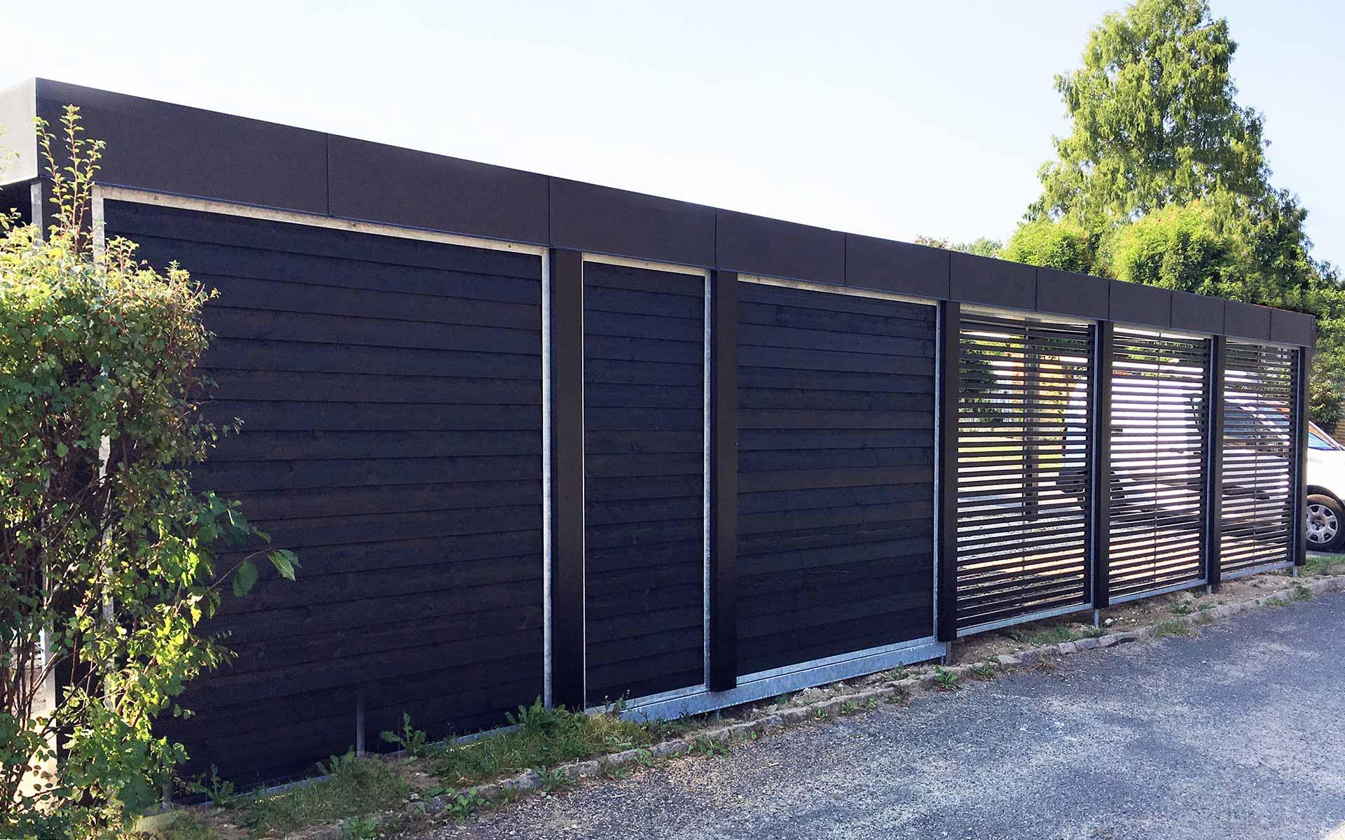 stockholm serien enkelt og dobbelt carport design din moduo carport. Black Bedroom Furniture Sets. Home Design Ideas