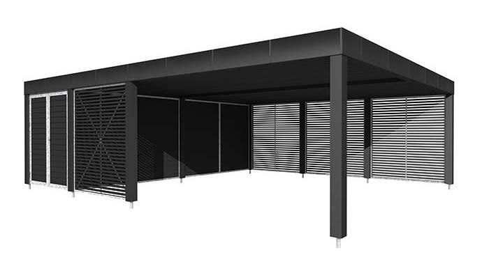 Fantastisk Stockholm serien | Enkelt og dobbelt carport | Design din Moduo DL31